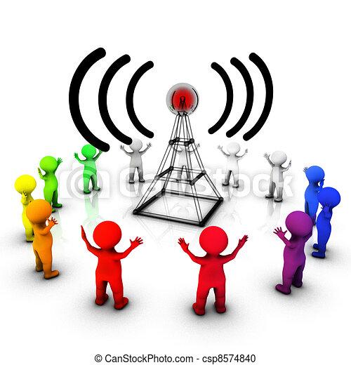 Radio broadcast informing the public - csp8574840