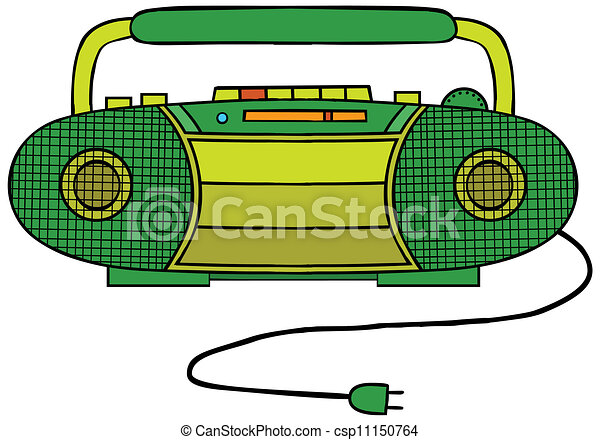 radio cassette player rh canstockphoto com radio clipart black and white radio clipart free