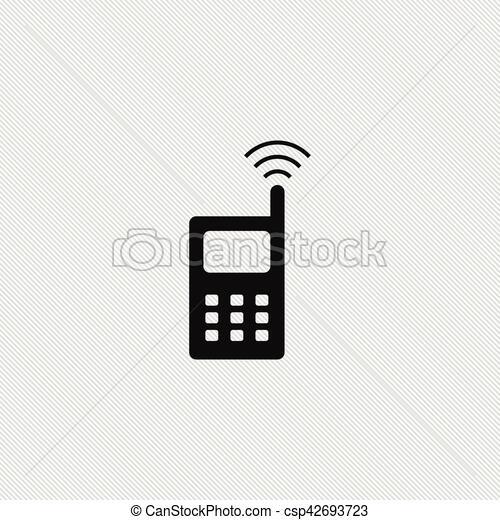 Radio, einfache , abbildung, ikone. Einfache , abbildung, zeichen ...