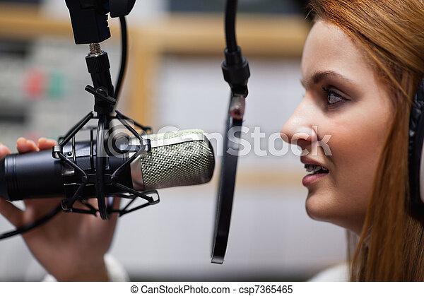 Radio host speaking - csp7365465