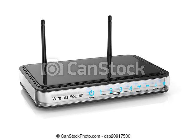 radio, router, freigestellt - csp20917500