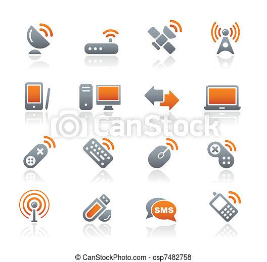 radio, signaltjänst, /graphite, & - csp7482758