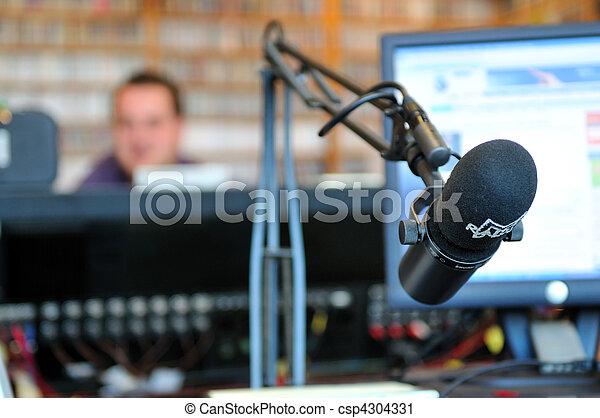 radio station microphone - csp4304331