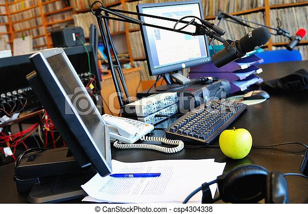 radio station microphone - csp4304338