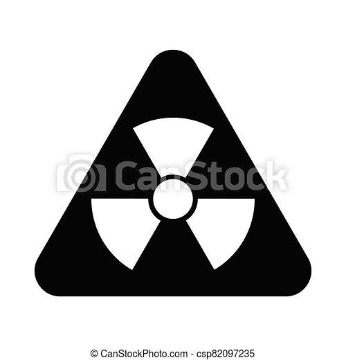Radioactive Danger Vector Radiation Warning Sign Toxic Nuclear Icon Black Illustration - csp82097235