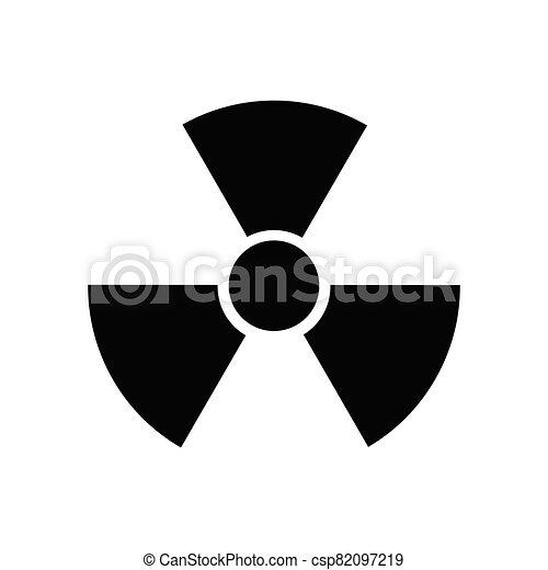 Radioactive Danger Vector Radiation Warning Sign Toxic Nuclear Icon Black Illustration - csp82097219