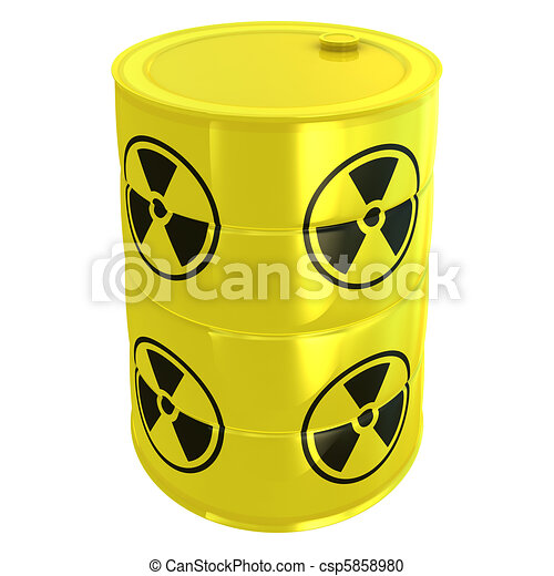 radioaktive, hvid, tank, isoleret - csp5858980