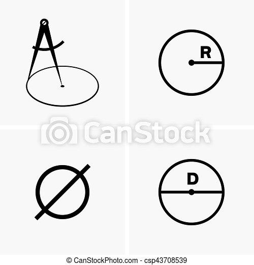 Radiuses and diameters - csp43708539