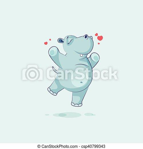 Radost Charakter Skakani Emoji Karikatura Hroch Oziveni