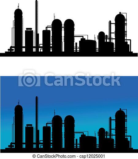 raffinerie chimique, plante, ou - csp12025001