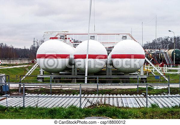 raffinerie, grand, huile, réservoirs - csp18800012