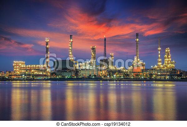 raffinerie, plante, huile - csp19134012