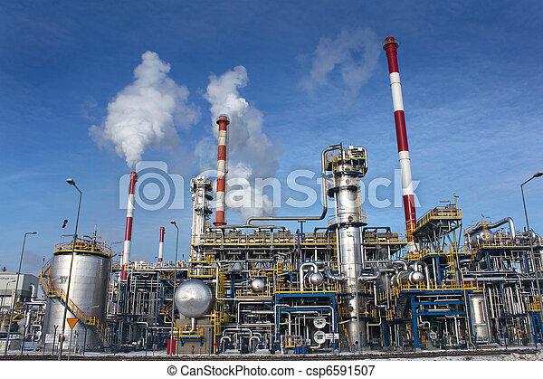 raffinerie, plante, huile - csp6591507