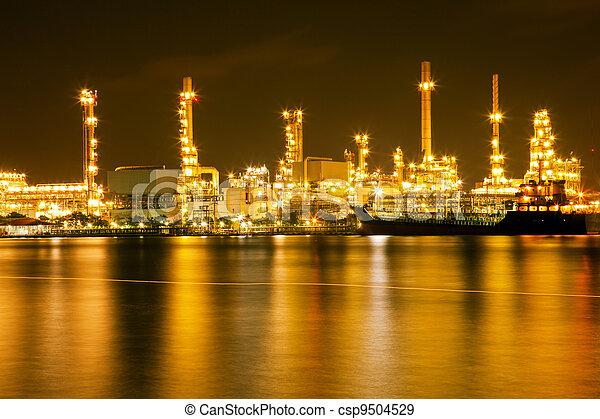 raffinerie, plante, huile - csp9504529