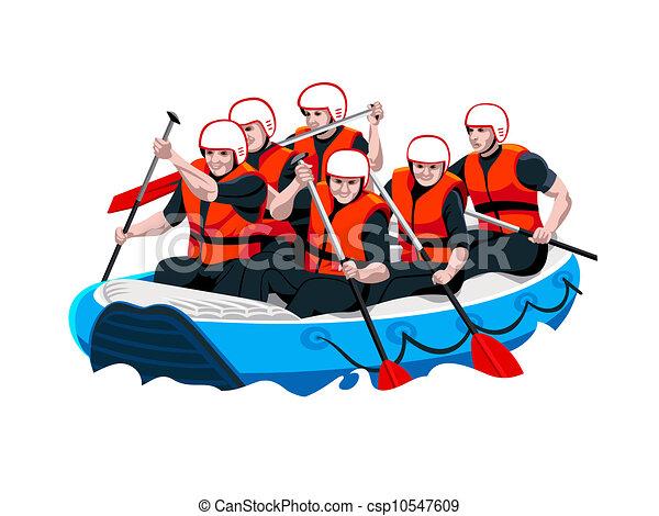 Rafting team - csp10547609