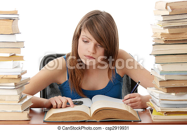 ragazza adolescente, cultura - csp2919931