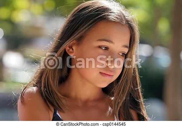 ragazza, asiatico - csp0144545