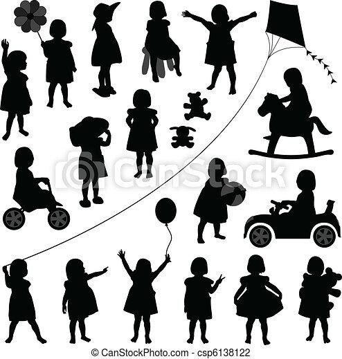ragazza bambino, bambino primi passi, bambini, bambino - csp6138122
