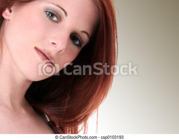 ragazza, bellezza, adolescente - csp0103193