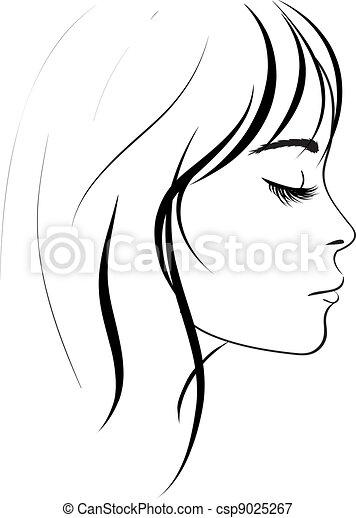 ragazza, bellezza, faccia - csp9025267