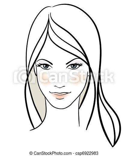ragazza, bellezza, faccia - csp6922983
