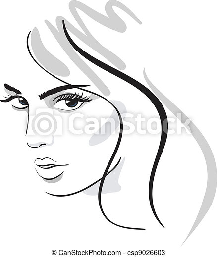 ragazza, bellezza, faccia - csp9026603