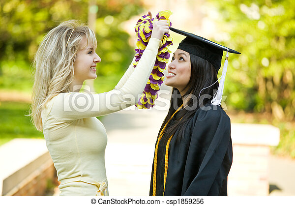 ragazza, graduazione - csp1859256