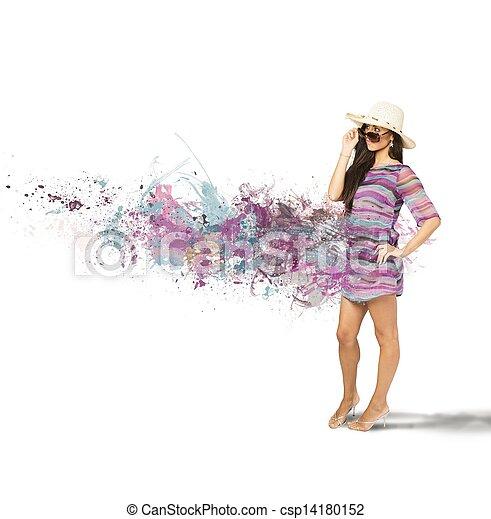 ragazza, moda - csp14180152