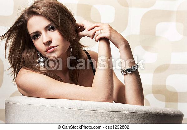 ragazza, moda, proposta - csp1232802