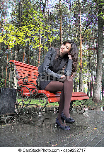 ragazza, parco - csp9232717