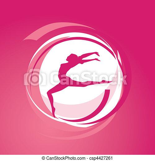 ragazza, vettore, ginnastica - csp4427261