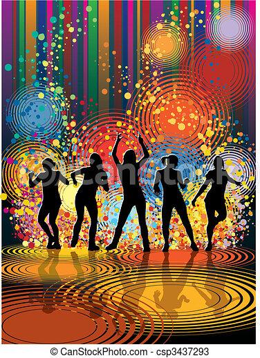 ragazze, ballo - csp3437293
