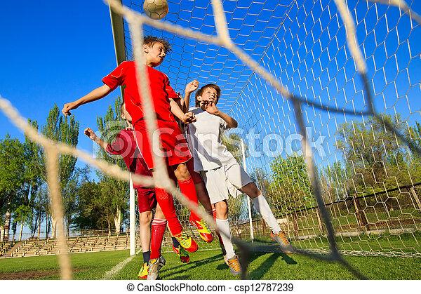 ragazzi, calcio, gioco - csp12787239