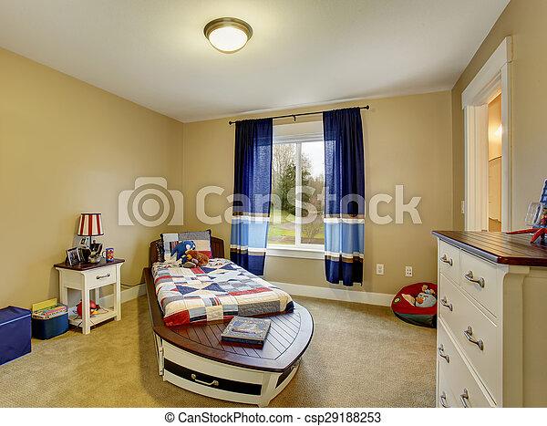 ragazzi, marinaio, theme., camera letto