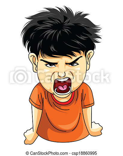 ragazzo, arrabbiato - csp18860995