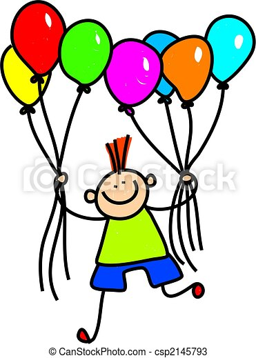 ragazzo, balloon - csp2145793