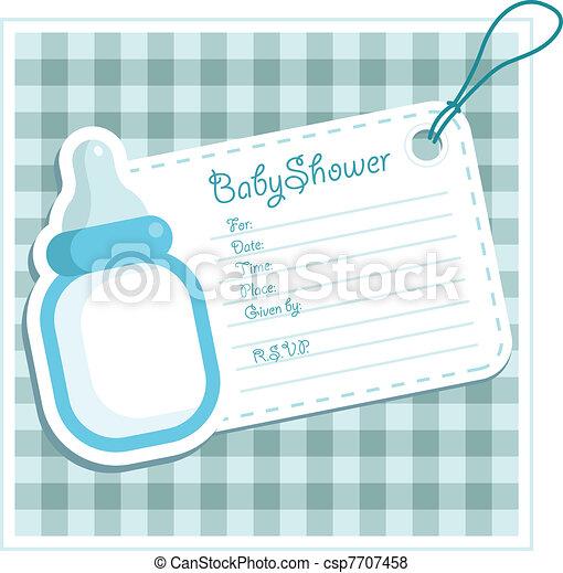 ragazzo bambino, card., doccia - csp7707458