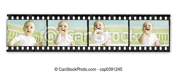 ragazzo bambino, striscia, film, serie - csp0391245