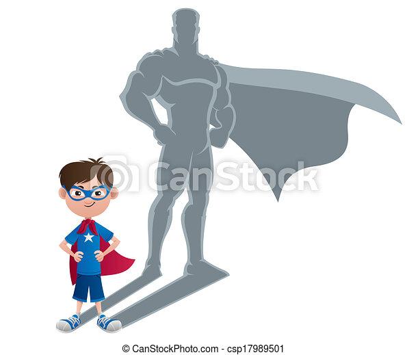 ragazzo, concetto, superhero - csp17989501
