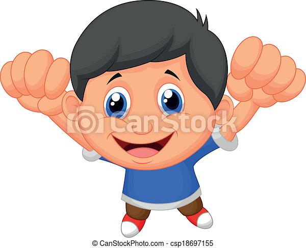 ragazzo, proposta, cartone animato - csp18697155