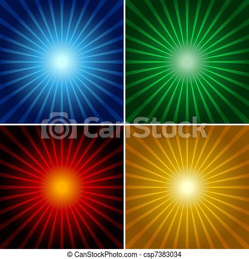 raggi luminosi - csp7383034