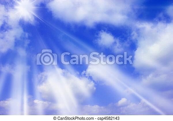 raggi sole - csp4582143