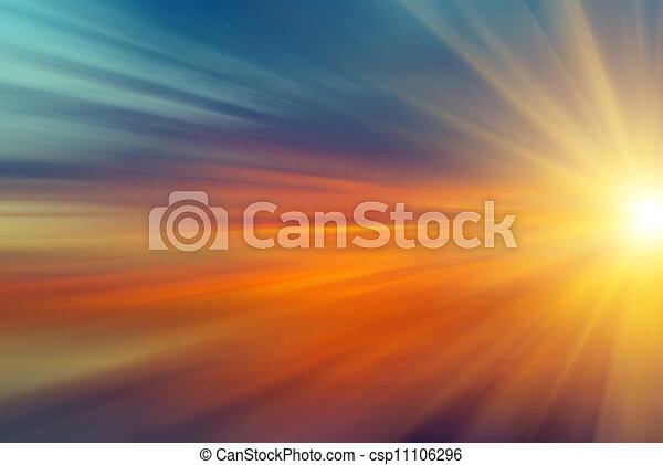 raggi sole, tramonto - csp11106296