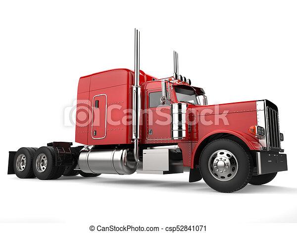 raging red classic 18 wheeler big truck csp52841071