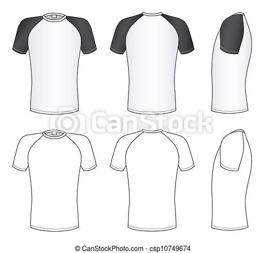 raglan sleeve t shirt vector