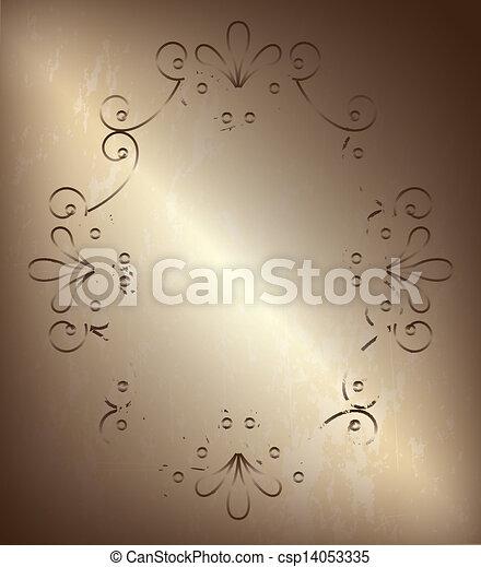 Frame Bronze - csp14053335