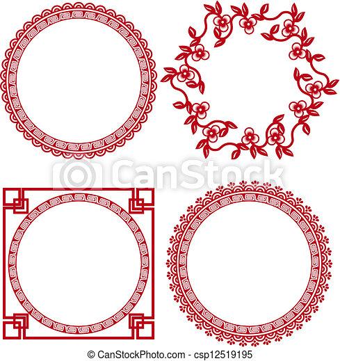 Chinesische Zierrahmen - csp12519195