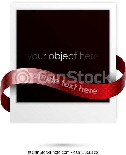 Polaroidrahmen für Ihr Objekt - csp15358122