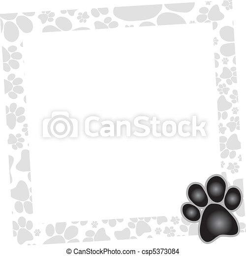 rahmen, hund - csp5373084