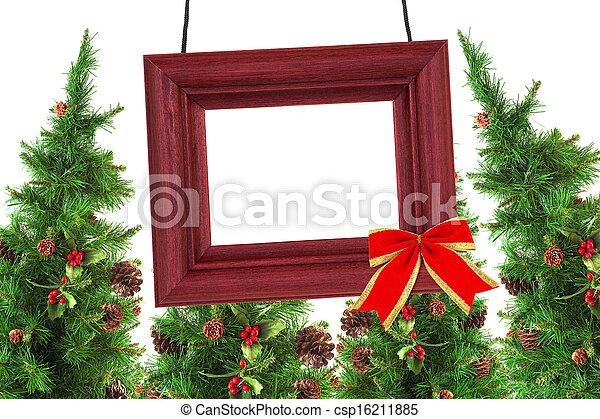 rahmen, photographisch, weihnachtsbäume - csp16211885